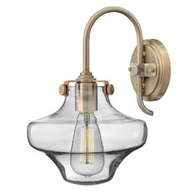 2 ELSTEAD – Congress Clear Glass Wall Light