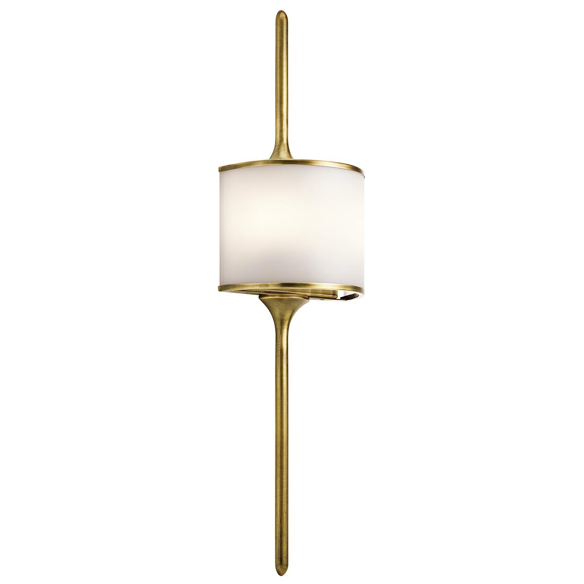 ELSTEAD – Mona 2lt Wall Light Natural Brass