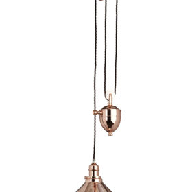 ELSTEAD – Provence 1lt Rise and Fall Pendant Polished Copper